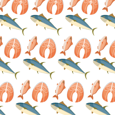 healthy fishes sea food background