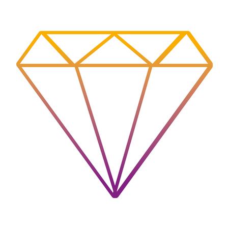 degraded line luxury diamond stone brilliant accessory vector illustration