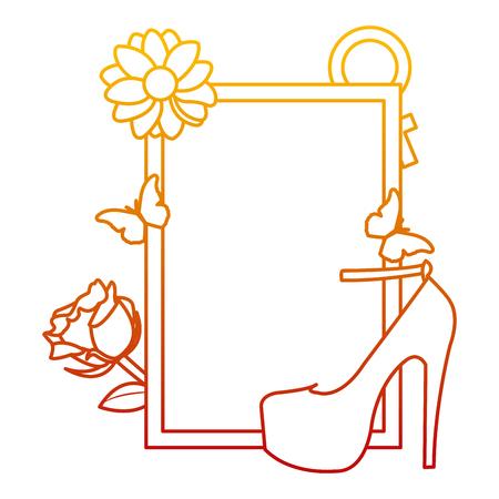 degraded line emblem design with mother day decoration vector illustration