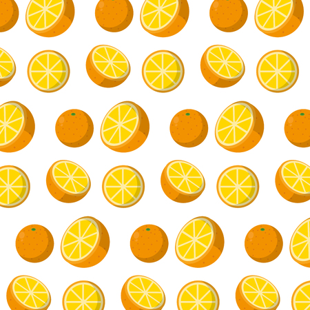 delicious orange organic fruit background vector illustration Stock Illustratie