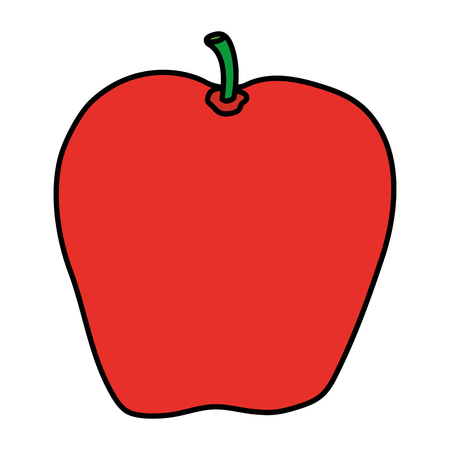 color delicious apple organic fruit nutrition vector illustration Illustration