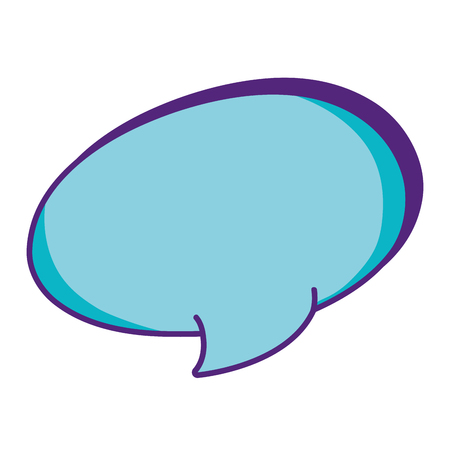 oval chat bubble text message vector illustration