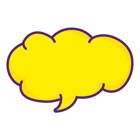 cloud chat bubble text message vector illustration Illustration