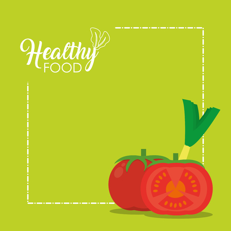 Healthy food tomatos concept vector illustration graphic design