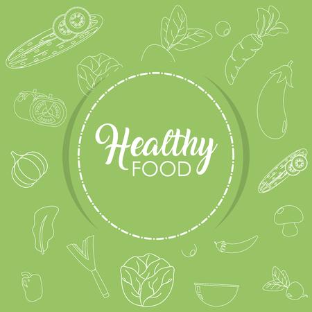 Healthy food vegetables background concept vector illustration graphic design Illustration