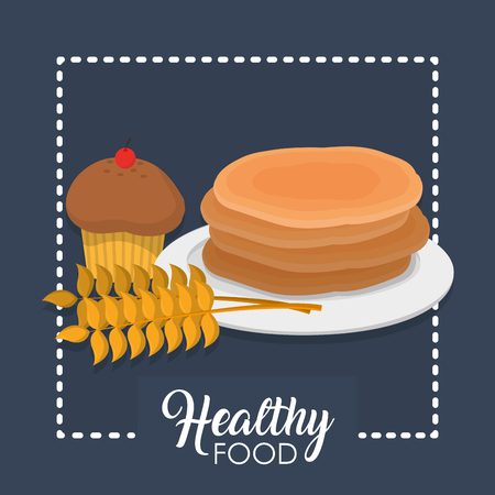 Bakery and healthy food concept vector illustration graphic design 일러스트