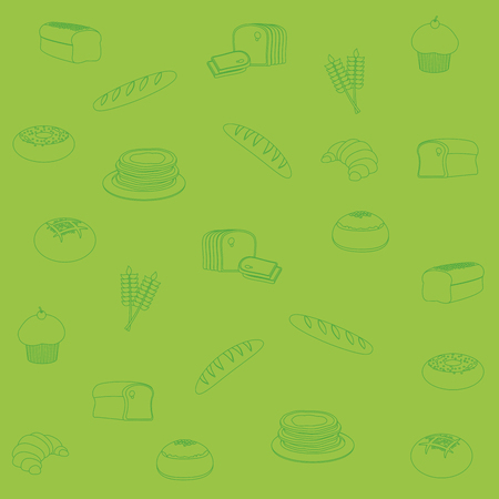 Bakery pattern background cartoons vector illustration graphic design Illustration