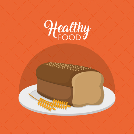 Bakery and healthy food concept vector illustration graphic design Çizim