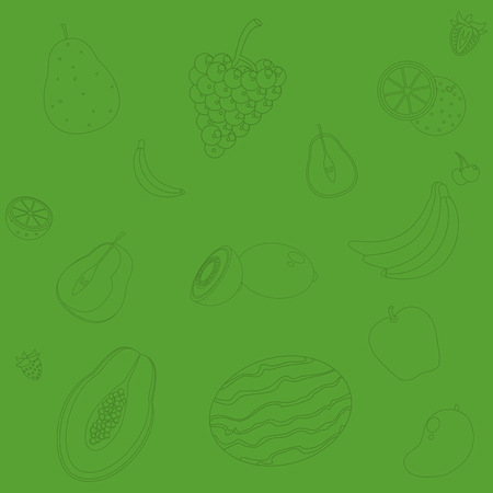 Cute fruits background pattern cartoons vector illustration graphic design
