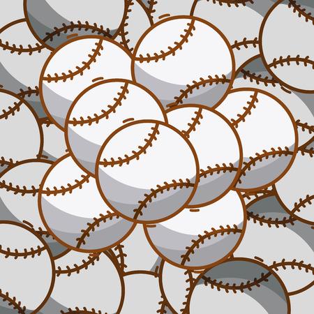 Fondo de bolas de deporte de béisbol