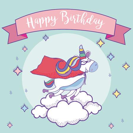 Happy birthday card  イラスト・ベクター素材