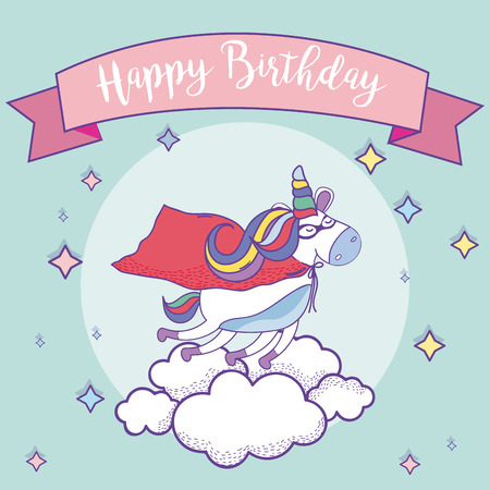 Happy birthday card Stock Illustratie