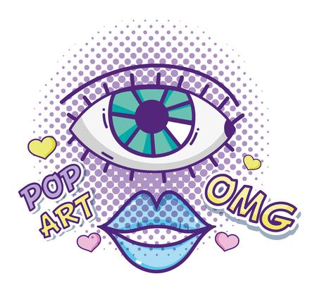 Pop art cartoons Vectores