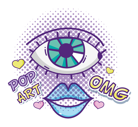 Pop art cartoons Illustration