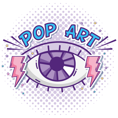Human eye pop art Vectores