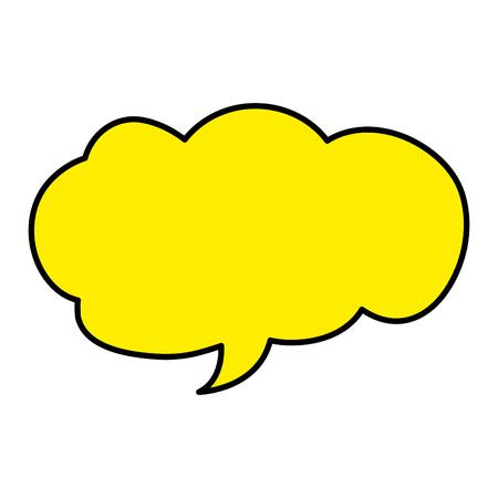 color cloud chat bubble text message vector illustration