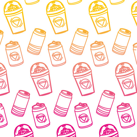 degraded line refreshing soda and smoothie beverages background