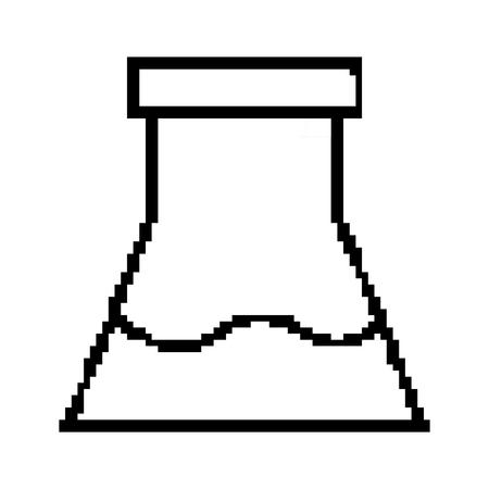 line flask lab science test