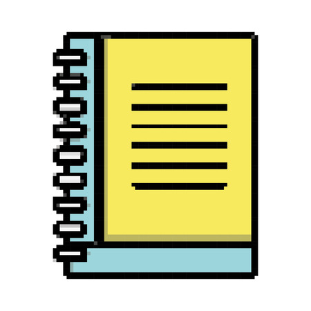 notebook paper note document object Illustration