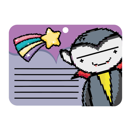 special card with vampire decoration design