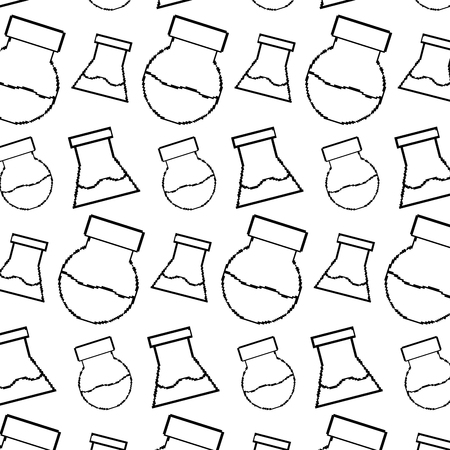 line lab flask science background Illustration
