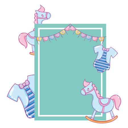 special emblem card to baby shower vector illustration Vectores