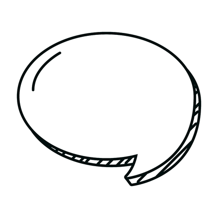 line circle chat bubble note text vector illustration