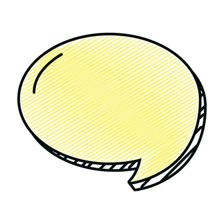 doodle circle chat bubble note text vector illustration