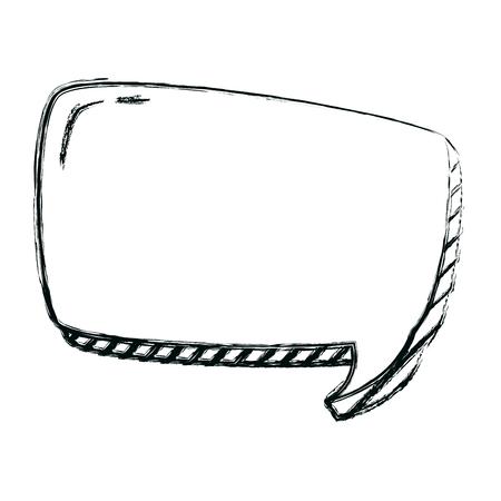 grunge square chat bubble note message vector illustration Ilustração