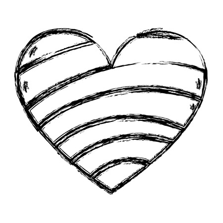 grunge decoration heart shape trendy symbol Illustration
