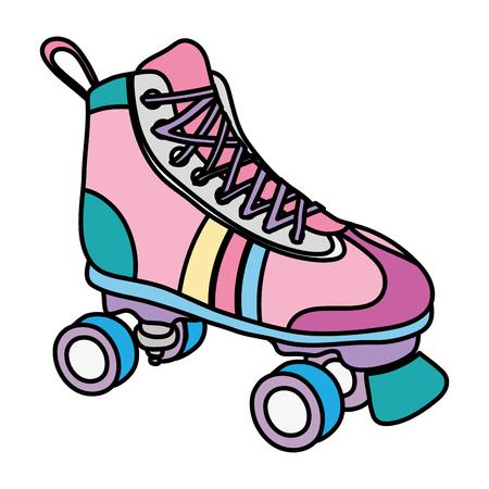 colore pattino a rotelle stile divertente sport
