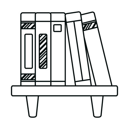 line education books object organized in the shelf Vectores