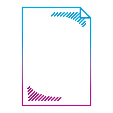 degraded line blank sheet paper object icon