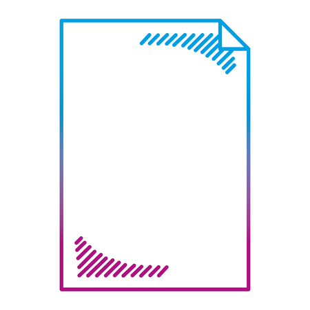 degraded line blank sheet paper object icon