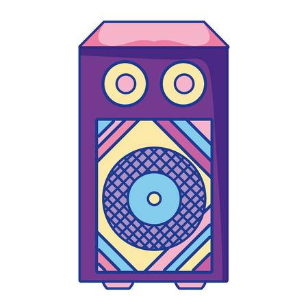 electronic speaker to listen music object vector illustration