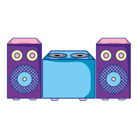 electronic speaker music object to listen vector illustration