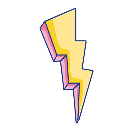 nature thunder weather electric voltage vector illustration Ilustração