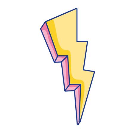 nature thunder weather electric voltage vector illustration Illustration