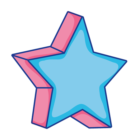 sparkly star 3d style shape vector illustration Vectores