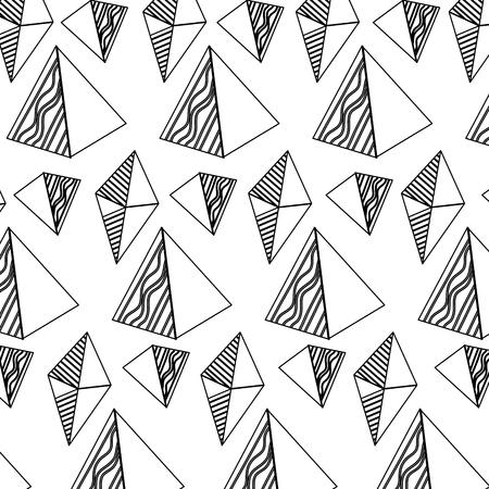 line geometric pentagonal pyramid and octahedron background vector illustration