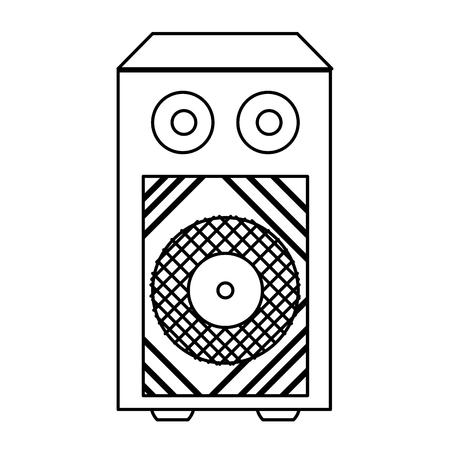 line electronic speaker to listen music object vector illustration 向量圖像