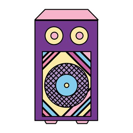 color electronic speaker to listen music object vector illustration 向量圖像