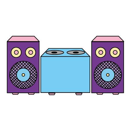 color electronic speaker music object to listen vector illustration