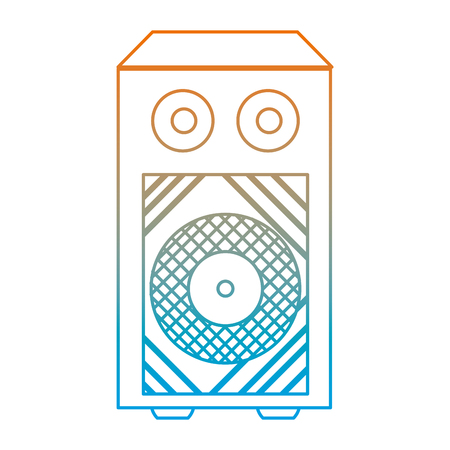degraded line electronic speaker to listen music object vector illustration