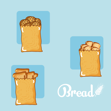 set of bread icons