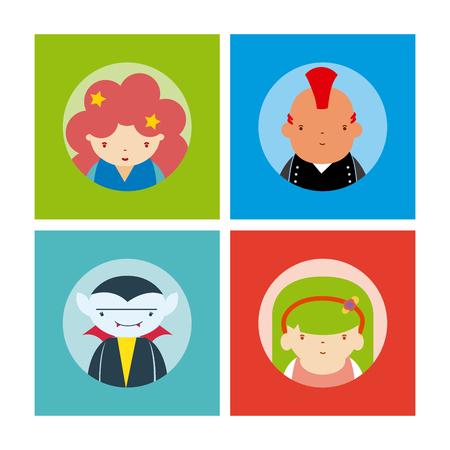 Set of avatars