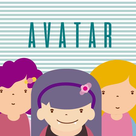 Funny avatar cartoons Illustration