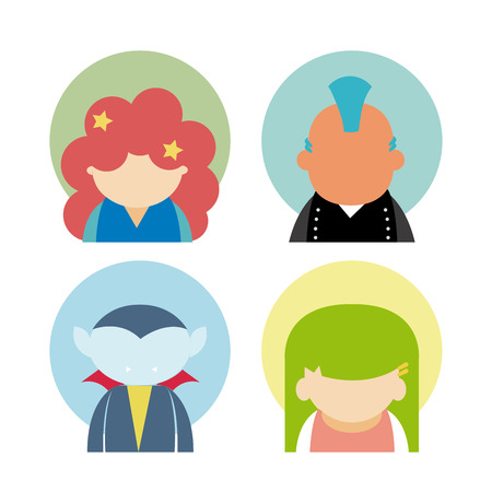 Set of avatars