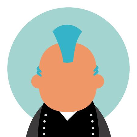 Punk man avatar
