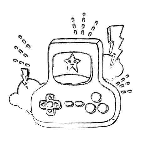 grunge videogame console digital simulador technology vector illustration